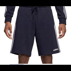 Adidas navy blue fleece shortsLarge